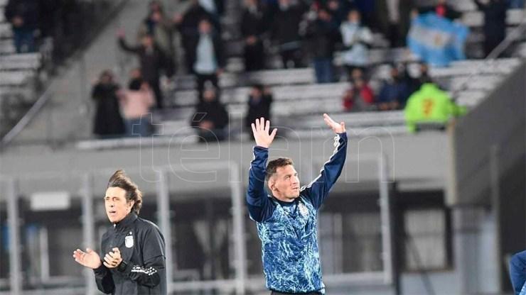 Argentina - Bolivia, jugado en el Monumental, contó con un aforo del 30 por ciento en sus tribunas. Foto: Ramiro Gómez
