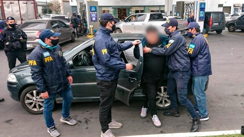 La detención de Julio Antonio Dávila Ríos. Fuente: Prensa del Ministerio de Seguridad.