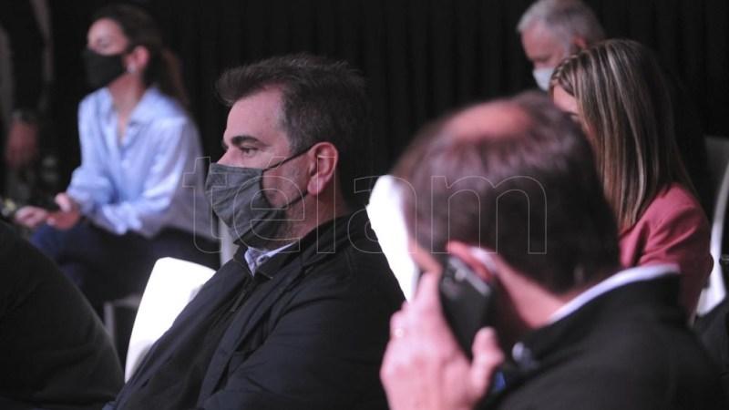 El presidente del bloque de diputados del PRO, Cristian Ritondo, se hizo presente en La Plata. (Foto: Eva Cabrera)