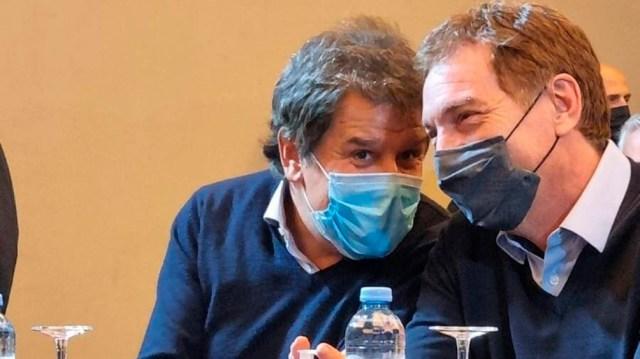 Manes y Santilli. Foto: prensa JxC.