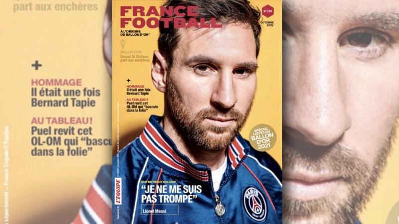 France Football y su tapa en la que Messi engalana una nueva edición de la revista