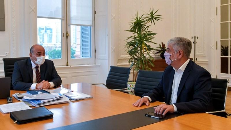 Manzur recibió a Feletti, quien reemplaza a paula Español en la Secretaría de Comercio Interior.
