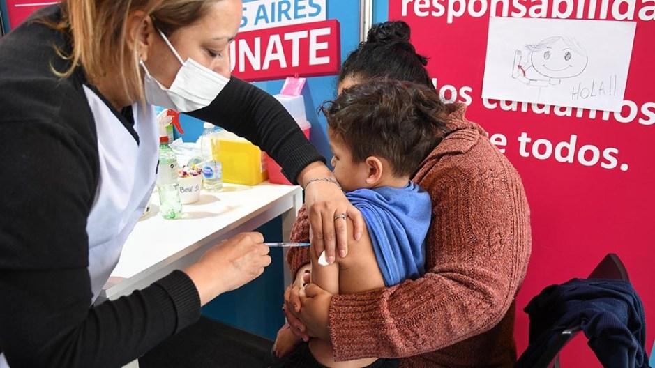En la provincia de Buenos Aires son 2.600.000 los niños de entre 3 y 11 años en condiciones de ser vacunados. (Foto Gustavo Amarelle)