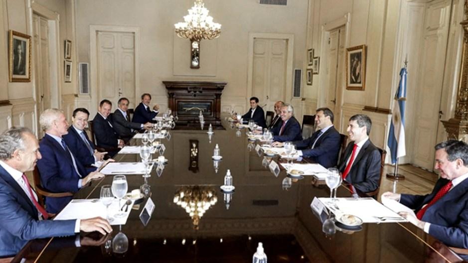 """Las partes remarcaron el objetivo de """"encontrar soluciones de manera conjunta"""". Foto: Presidencia."""