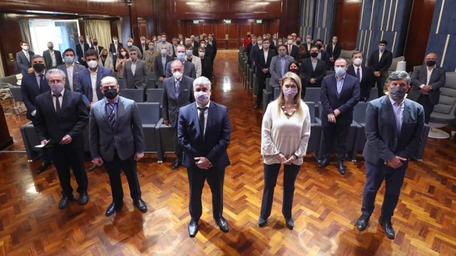 Débora Giorgi y Antonio Mezmezian, los nuevos integrantes del equipo de Feletti, estuvieron presentes en la reunión con productores y comercializadores.