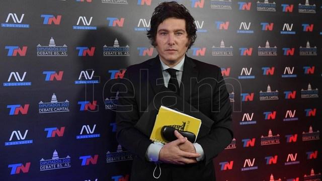 "Javier Milei volvió a hacer hincapié sobre ""la casta política"" (Foto: Maximiliano Luna)."