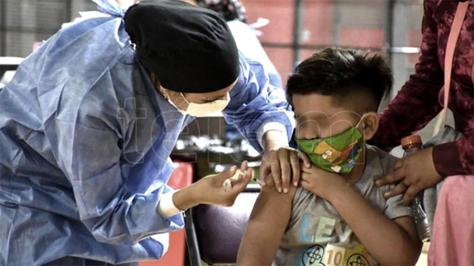En provincia de Buenos Aires se inmunizó con primeras dosis a un total de 58.000 chicos de 3 a 11 años. Foto: Rubén Paratore.