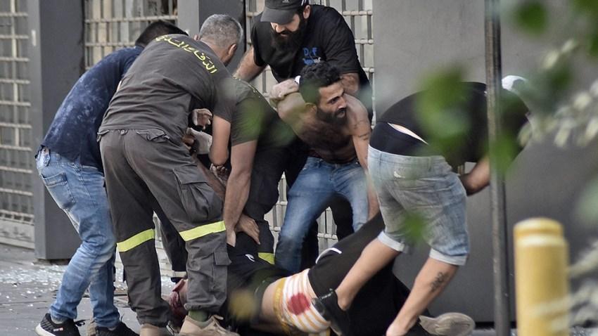 En total, 30 personas resultaron heridas, según la Cruz Roja. Foto: AFP