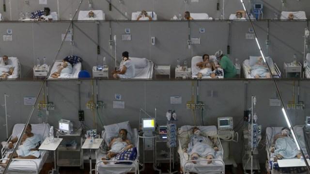 Brasil continuó siendo el país con mayor número de casos y muertes esta semana, un promedio de 74.200 casos diarios.