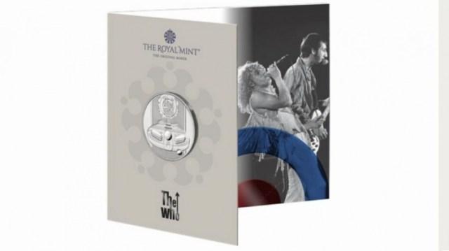 La moneda The Who en su versión plateada