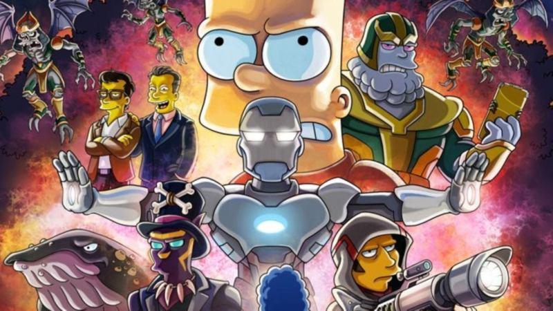 I Simpson: il poster ispirato ad Avengers: Endgame per l'episodio con i fratelli Russo
