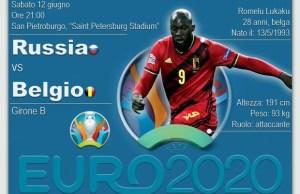 Belgio-Russia Euro 2020 Rai Uno