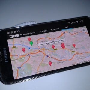 LTE Broadcast can be combined with other services, such as Google Maps