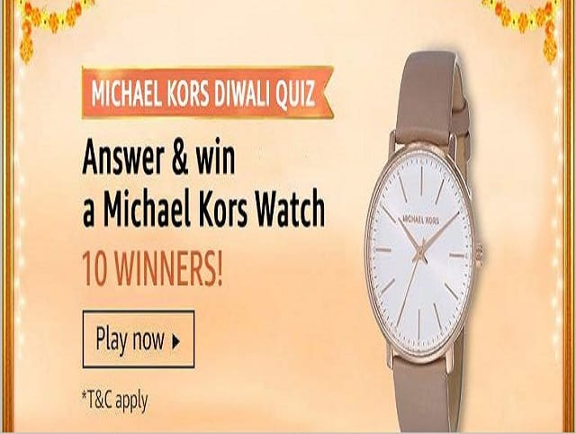 Amazon Michael Kors Diwali Quiz Answers