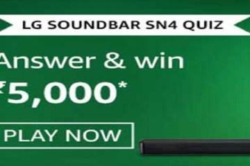 Amazon LG Soundbar SN4 Quiz Answers