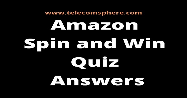 Amazon Spin and Win Quiz Answers Today