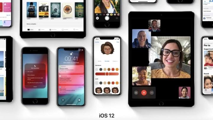 iOS 12, l'aggiornamento Apple utile anche ai vecchi modelli