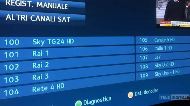 Sky, da oggi visibili tutti i canali gratuiti Mediaset