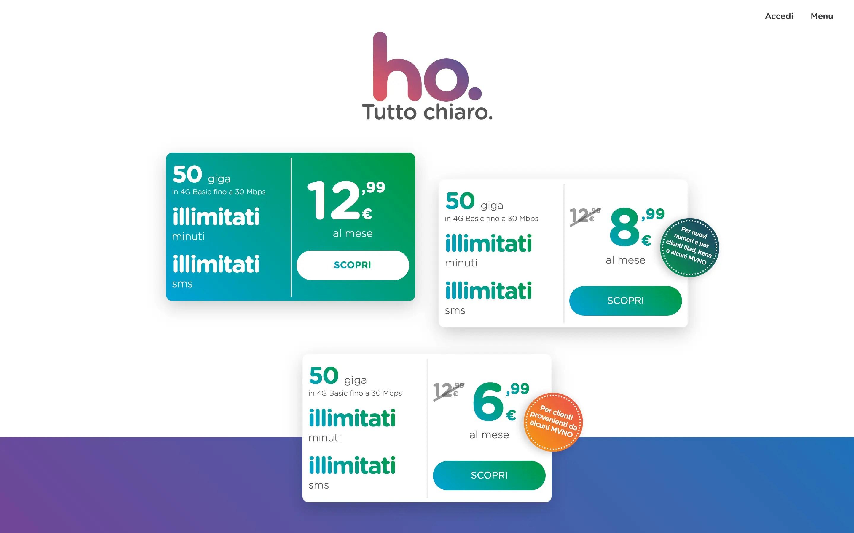 Ho Mobile, arrivano tre nuove offerte a partire da 6,99€/mese ...