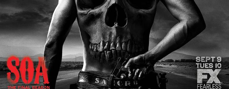 Locandina promozionale ultima stagione Sons Of Anarchy
