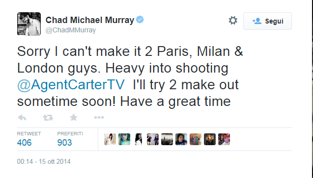 chad michael murray tweet