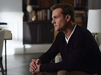 "SUITS -- ""Mea Culpa"" Episode 508 -- Pictured: Gabriel Macht as Harvey Specter -- (Photo by: Shane Mahood/USA Network)"