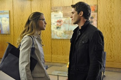 """""""Strange Visitor From Another Planet"""" -- Cat's estranged son, Adam (Blake Jenner, right), arrives in National City, on SUPERGIRL, Monday, Jan. 25 (8:00-9:00 PM, ET/PT) on the CBS Television Network. Also pictured: Melissa Benoist (left) Photo: Darren Michaels/Warner Bros. Entertainment Inc. © 2015 WBEI. All rights reserved."""