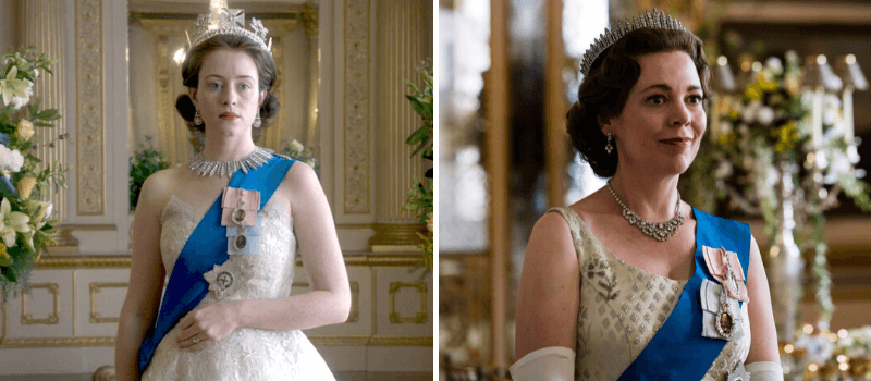 the crown claire foy olivia colman