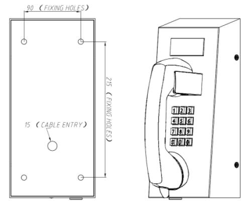 Drawing JR212-FK Teléfono Antivandalico Vozell