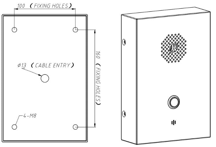 Montaje en Pared JR302-SC Telefono de Emergencia