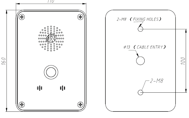 JR304-SC Telefono de emergencia