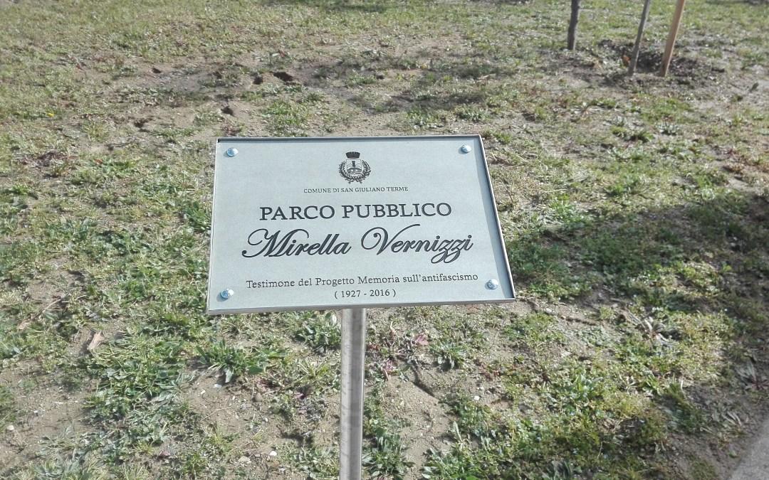 Mirella Vernizzi, ex staffetta partigiana: a San Giuliano Terme un parco pubblico a lei intitolato