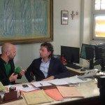 Acerra: Luca Abete con il sindaco Lettieri