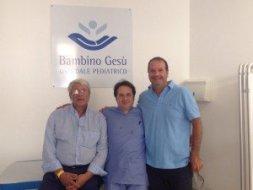 Foto Prof. Inserra, Infermiere Meschino e Sindaco Mitrano