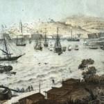 Veduta generale di Gaeta dopo la resa. (Litografia Perrin 1861)