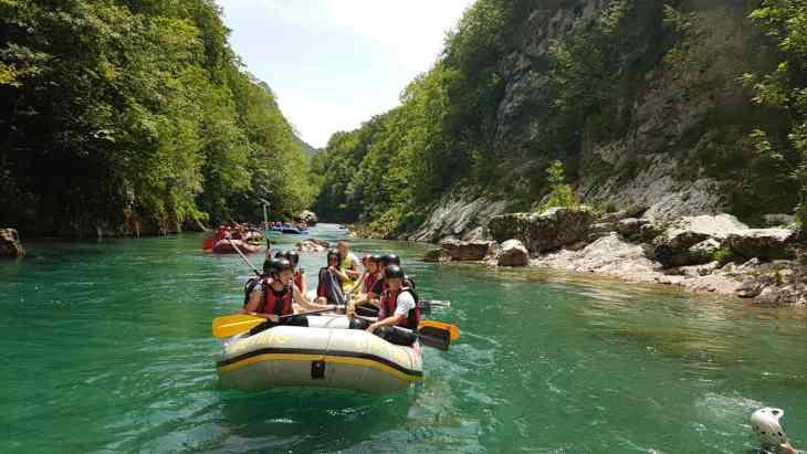 White water rafting on the river Tara in Montenegro