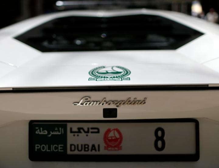 The Dubai police can go from zero-to-60 in less than three seconds