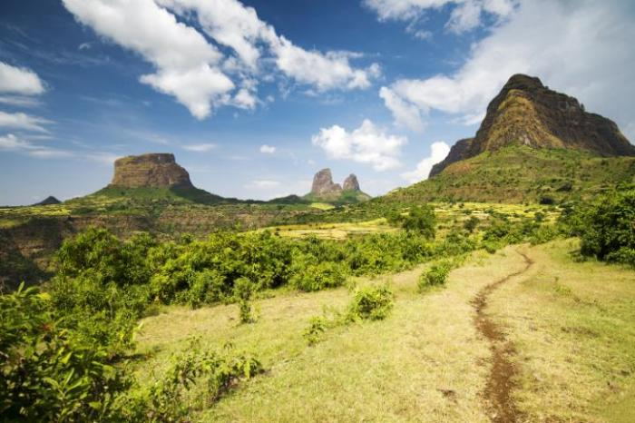 The Simien Mountains National Park in the north of the country