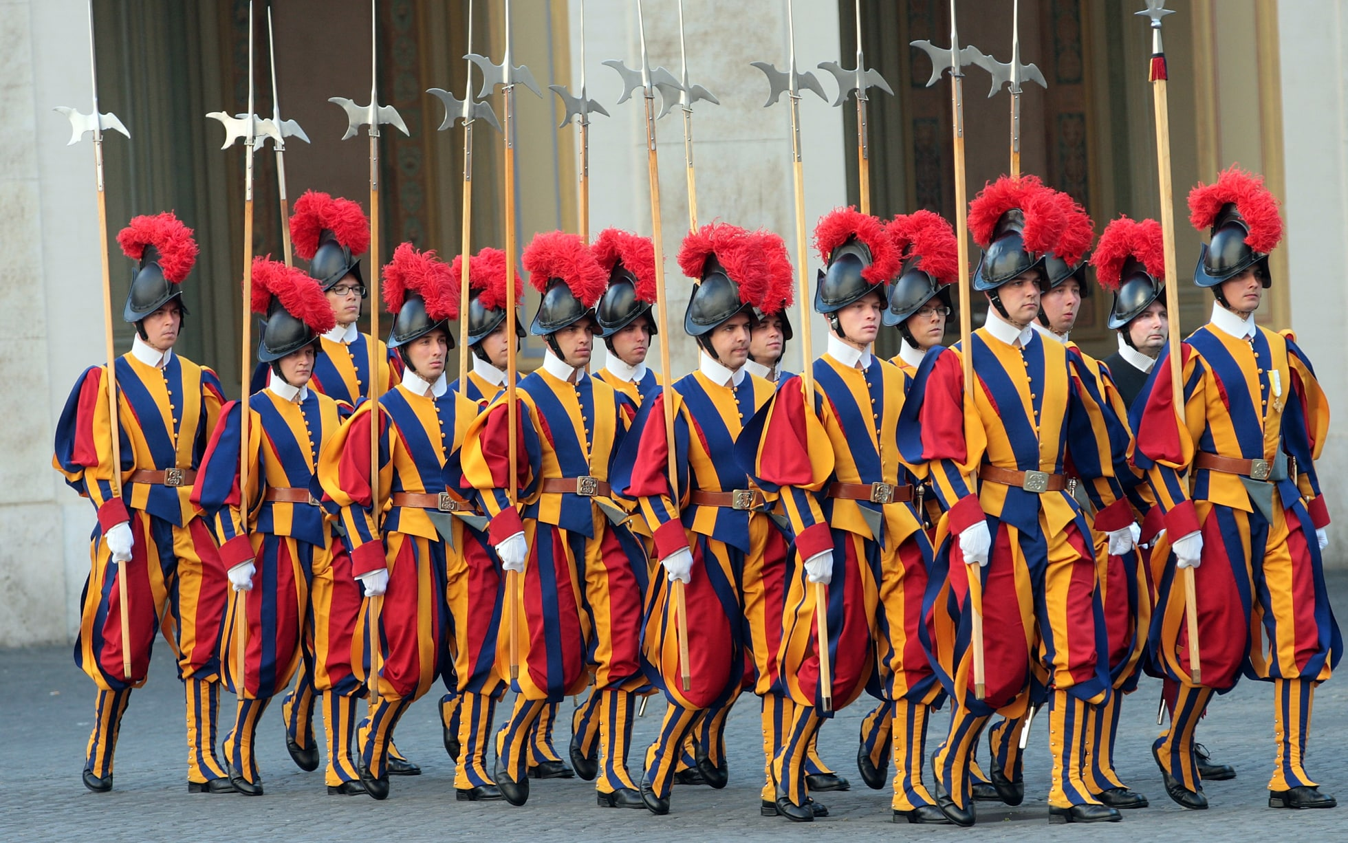 Image result for picture of Vatican guards