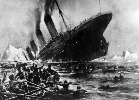 An artist's impression of the sinking