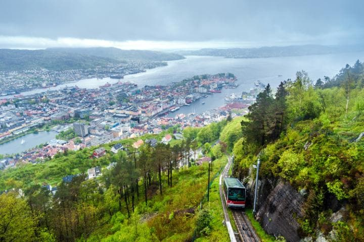 The Fløyen funicular railway