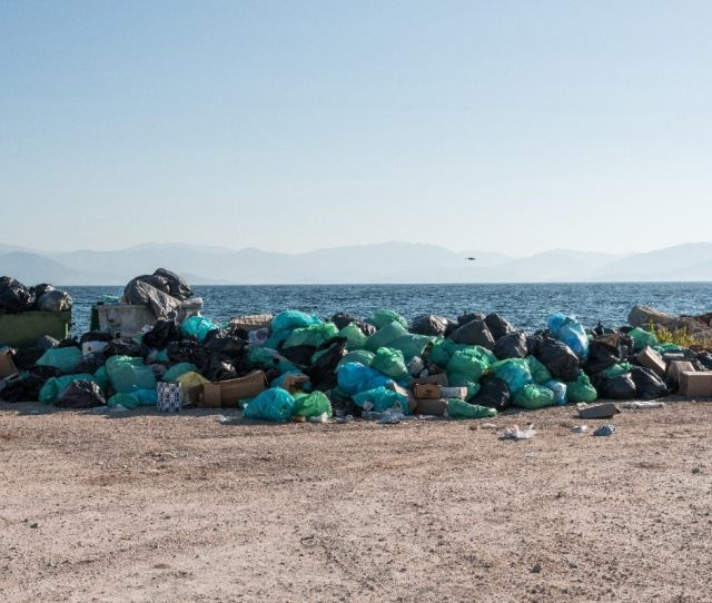 Rubbish Has Been Piling Up On The South Of The Island Near Kavos