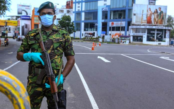 Here in Sri Lanka, 22,000 have been arrested for breaking curfew and police  are rewarded for their vigilance