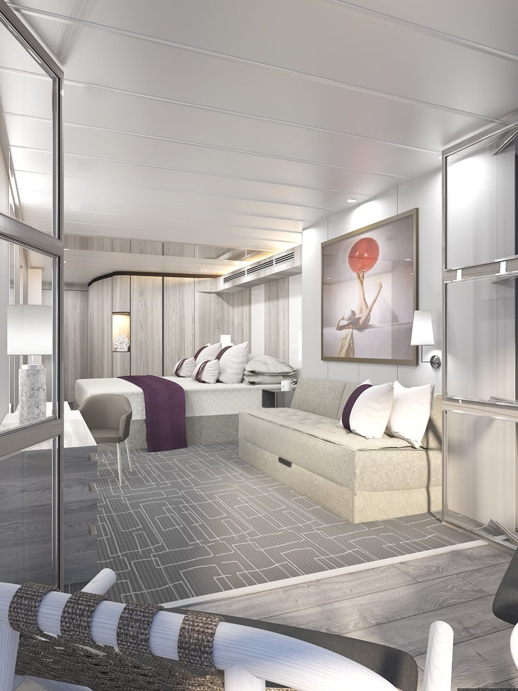 State room with veranda on Celebrity Edge