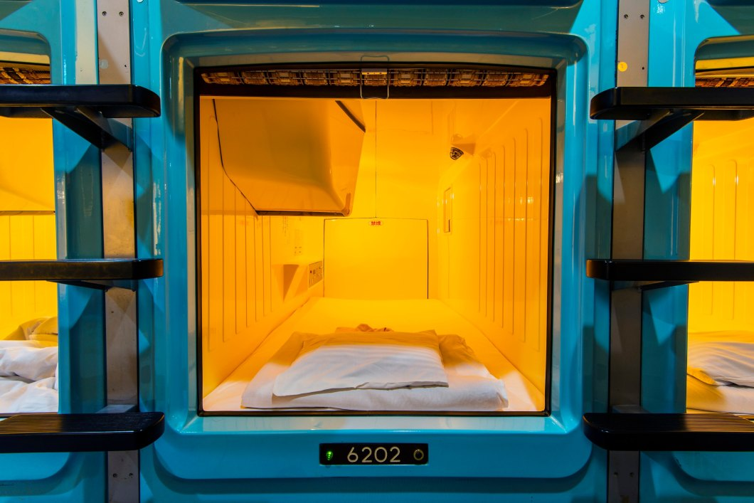 Traditionally, pod hotels are a little on the poky side
