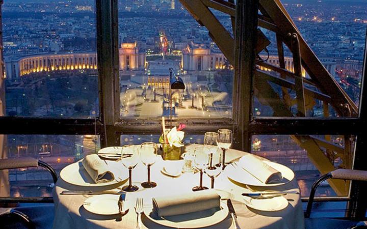 Le Jules Verne in Paris has an extraordinary setting 400ft up the Eiffel Tower