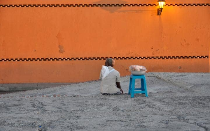 The sunset in Cartagena's old town