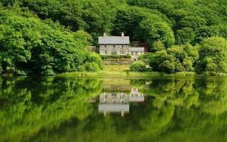 the old rectory on the lake, snowdonia, wales