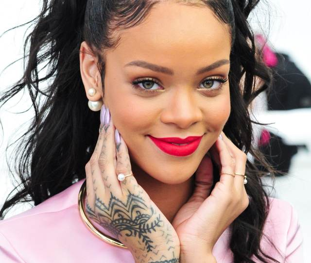 Rihanna Shows Off Her Hand Tattoos At The Dior Cruise  Show