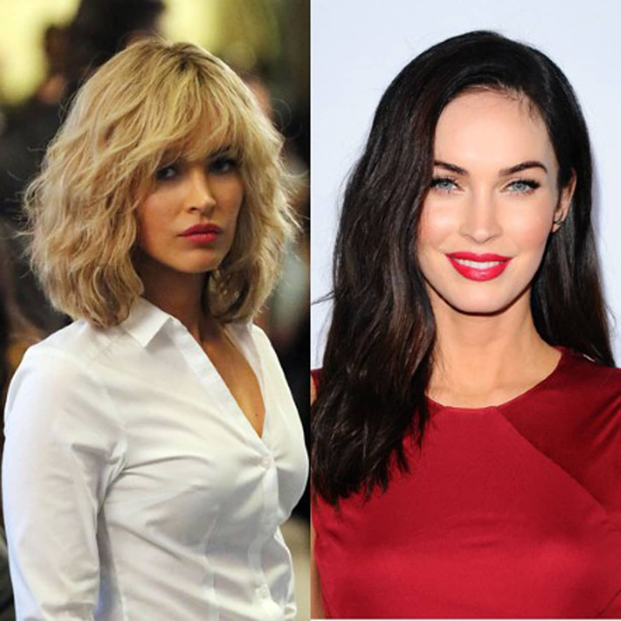 Megan Fox Celebrity Hair Blonde Vs Brunette Beauty